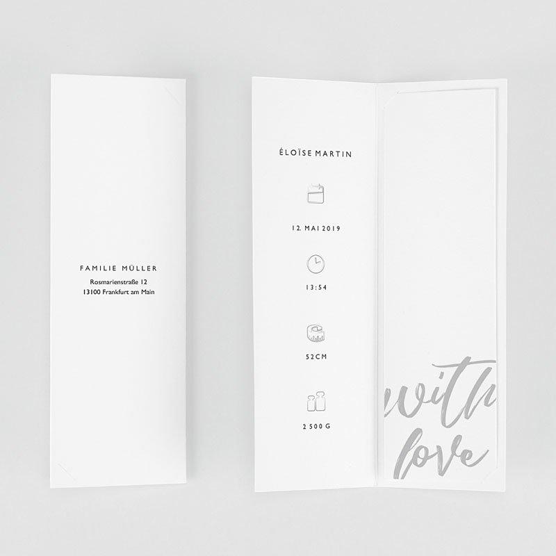 Geburtskarten für Mädchen Merely Love gratuit