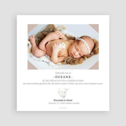 Geburtskarten für Mädchen Ozean pas cher