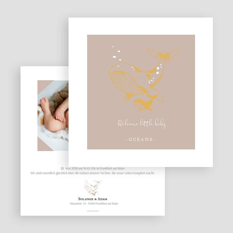 Geburtskarten für Mädchen Ozean gratuit