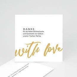Danksagungskarten Geburt Made with Love
