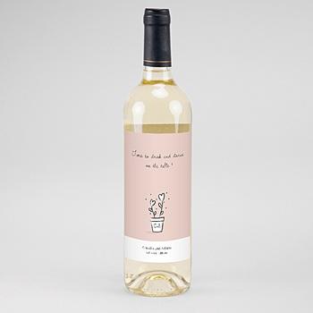 Flaschenetiketten Hochzeit - 2 Herzen - 0