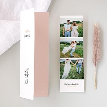 Originelle Dankeskarte Hochzeit  - 2 Herzen - 0