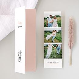 Danksagungskarten Hochzeit 2 Herzen