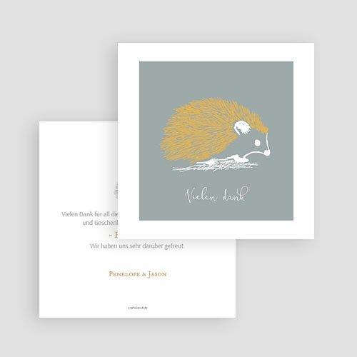Dankeskarten Geburt Jungen - Goldigel 63281 thumb