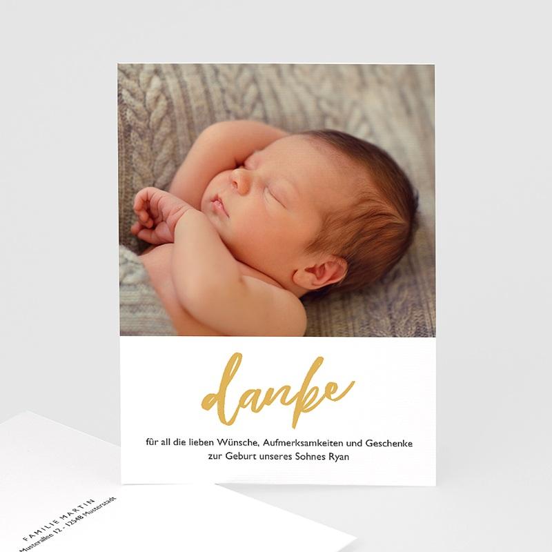 Dankeskarten Geburt Jungen Hello World