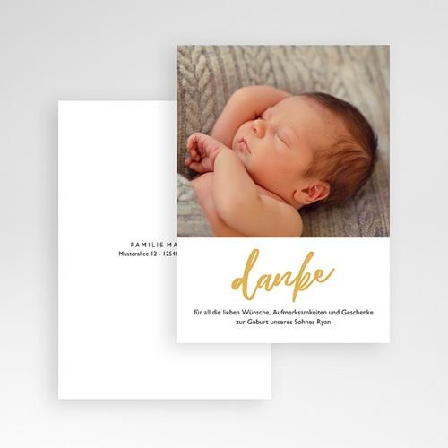 Dankeskarten Geburt Jungen Hello World pas cher
