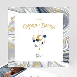 Geburtskarten für Jungen Mond Mobilie