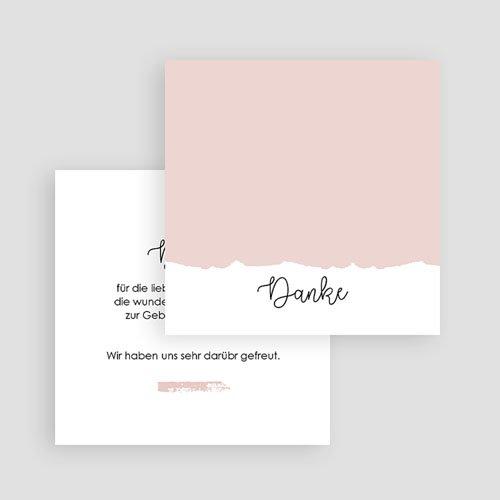 Dankeskarten Geburt Mädchen - Pastel 63351 thumb