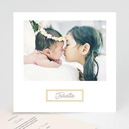 Foto-Babykarten gestalten Rahmen