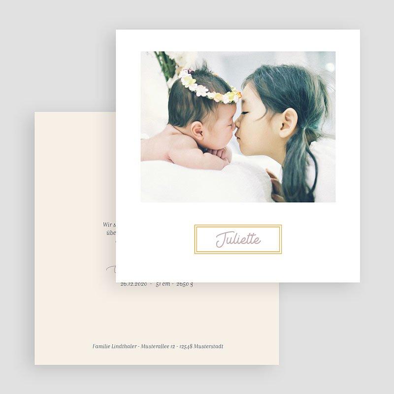 Geburtskarten mit Fotos Rahmen gratuit