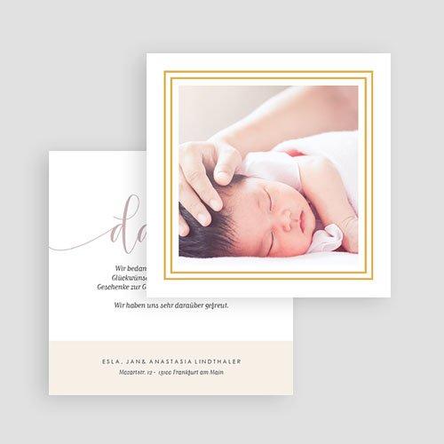 Dankeskarten Geburt mit Foto  Hello Gold gratuit