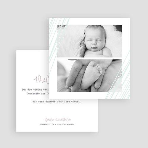 Dankeskarten Geburt Mädchen Soft Highlights gratuit