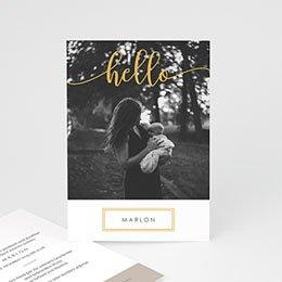 Foto-Babykarten gestalten Hallo Gold