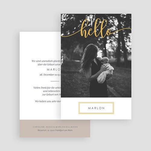 Geburtskarten mit Fotos Hallo Gold gratuit