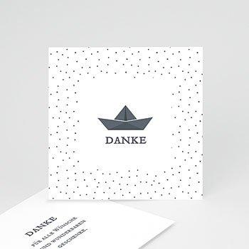 Dankeskarten Taufe Jungen Papierschiff