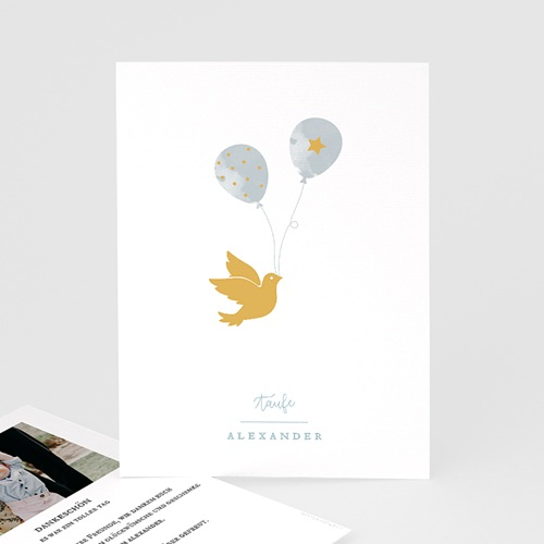 Klassische Dankeskarten zur Taufe  Peace Loving