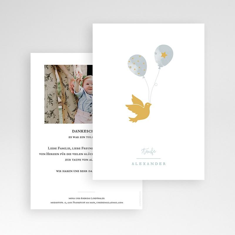Klassische Dankeskarten zur Taufe  Peace Loving pas cher