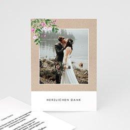Dankeskarten Hochzeit mit Foto Vintage Flower