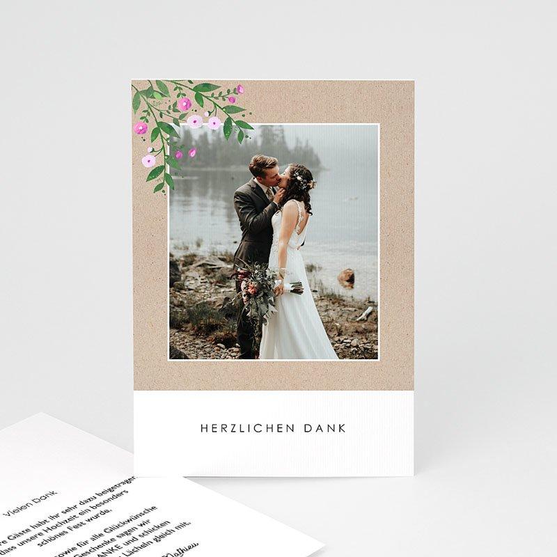 Dankeskarten Hochzeit mit Foto - Vintage Flower 63592 thumb