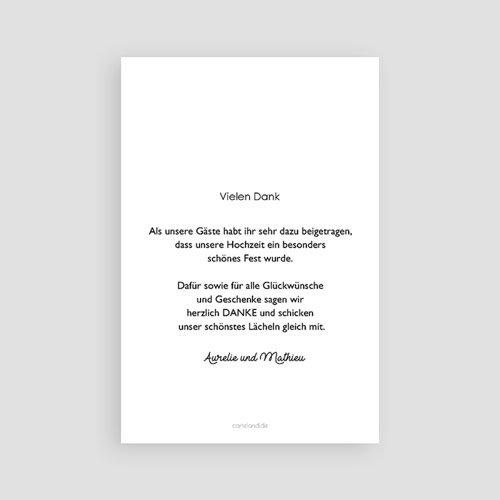 Dankeskarten Hochzeit mit Foto - Vintage Flower 63593 thumb