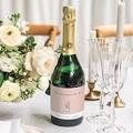Sekt Flaschenetiketten Hochzeit 2 Herzen gratuit