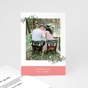 Danksagungskarten Hochzeit  - Schlichte Romantik - 0