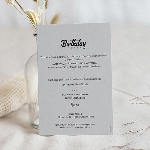 30 Jahre Alt Einladungskarten Geburtstag Birthday Party pas cher