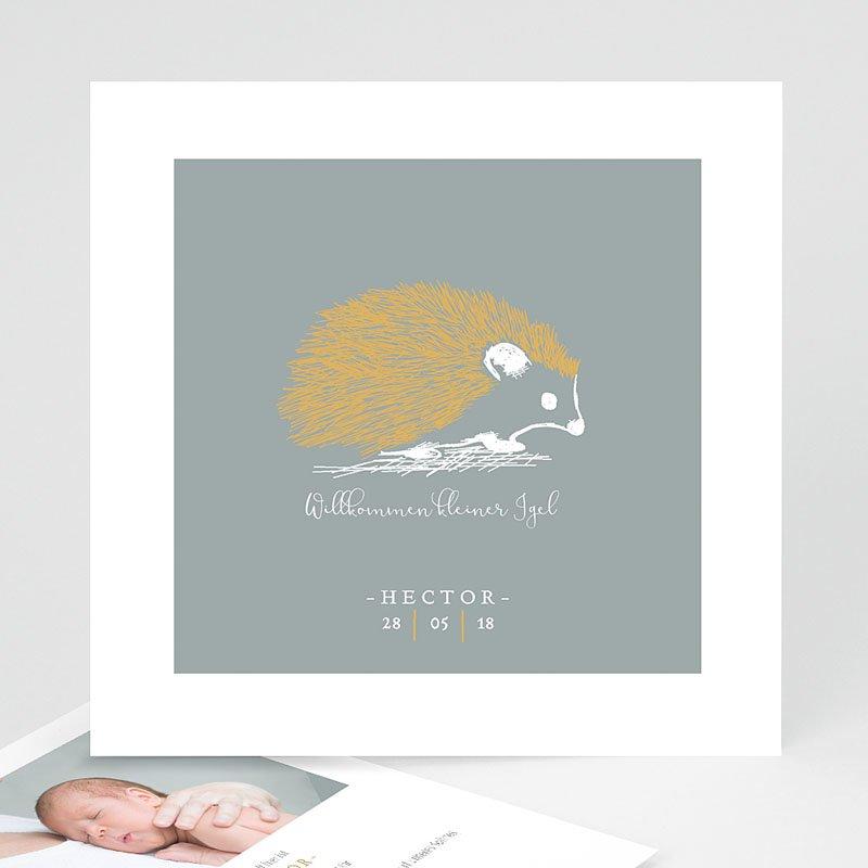 Geburtskarten mit Tieren Goldigel