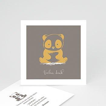Dankeskarten Geburt Jungen - Little Panda - 0