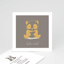 Dankeskarten Geburt Jungen Little Panda Zen