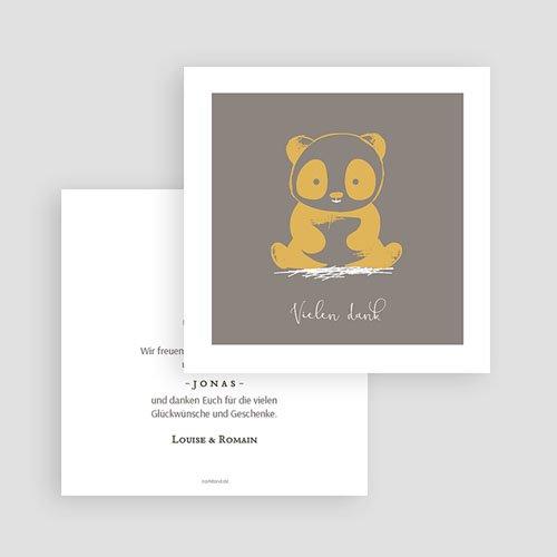 Dankeskarten Geburt Jungen Little Panda Zen gratuit
