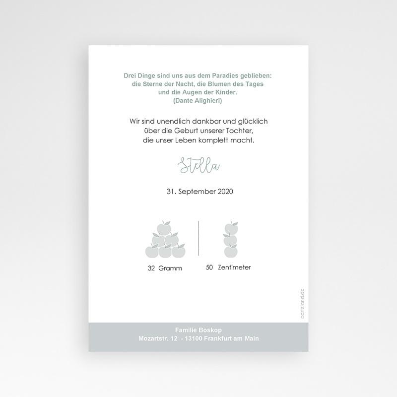 Geburtskarten für Geschwister Früchtchen pas cher