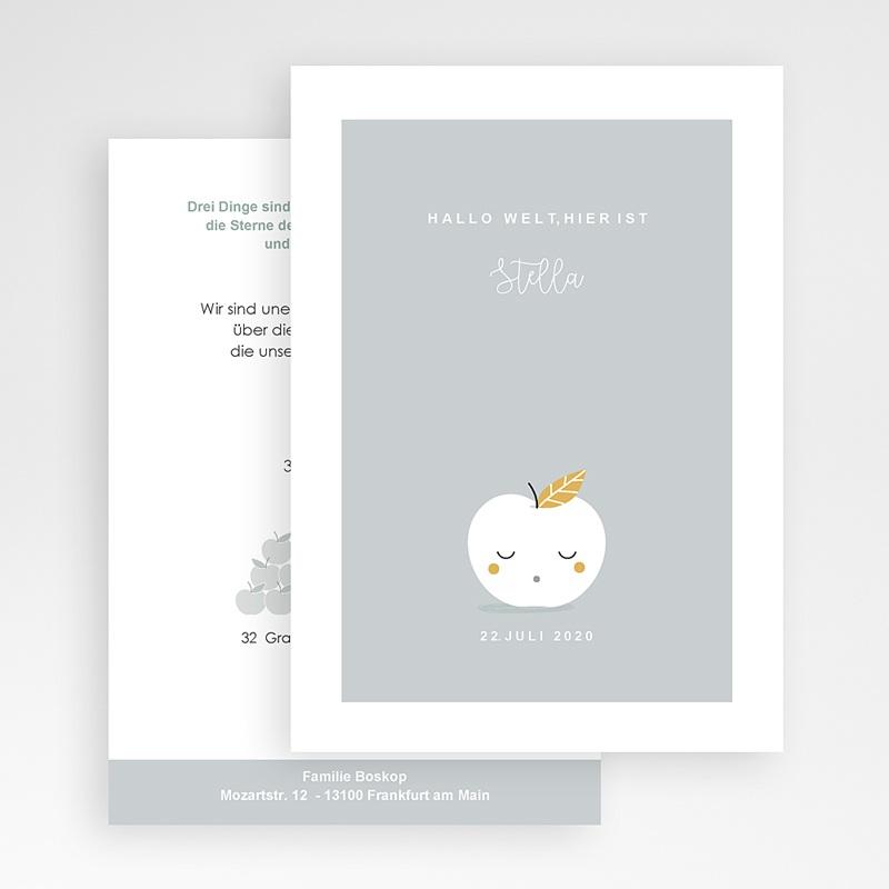 Geburtskarten für Geschwister Früchtchen gratuit