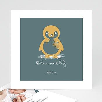 Geburtskarten mit Tiermotiven Kleiner Pinguin