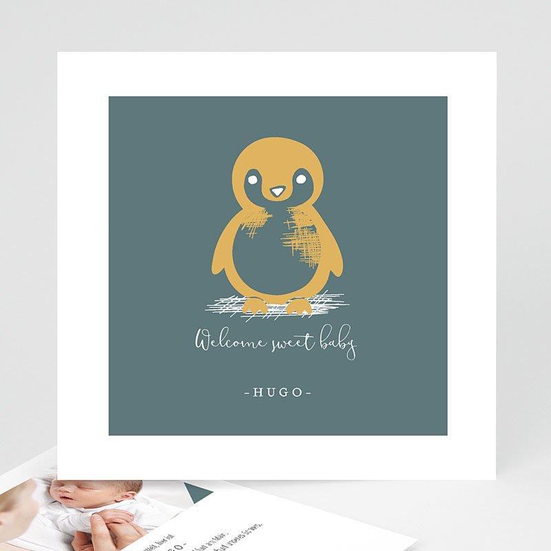 Geburtskarten mit Tieren Kleiner Pinguin