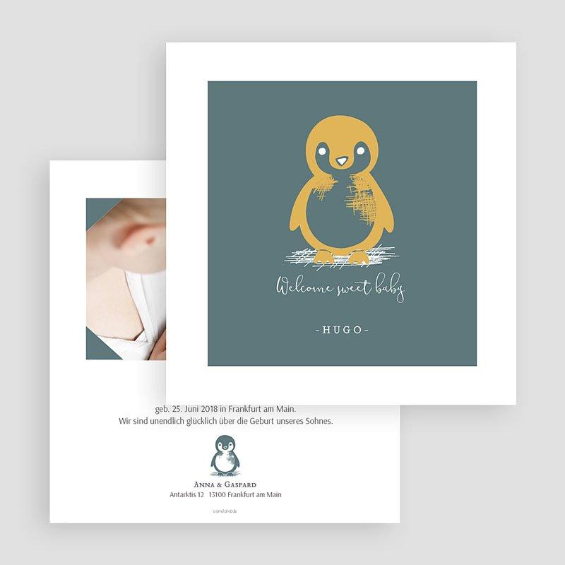 Geburtskarten mit Tieren Kleiner Pinguin gratuit
