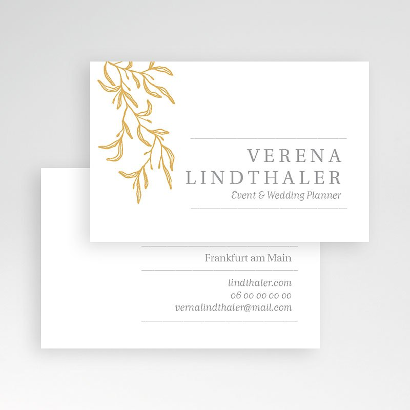 Visitenkarten Floral Gold pas cher