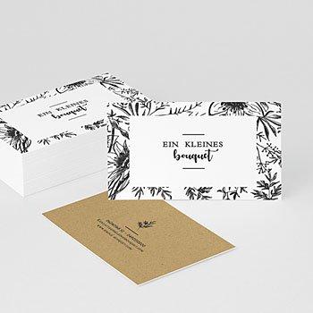 Visitenkarten - Florale Skizze - 0