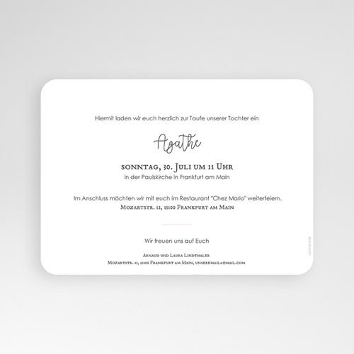 Einladungskarten Taufe Mädchen Goldtaube pas cher