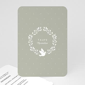 Einladungskarten Taufe Jungen  - Symbol Taube - 0