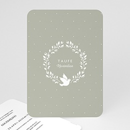 Karten Taufe Symbol Taube
