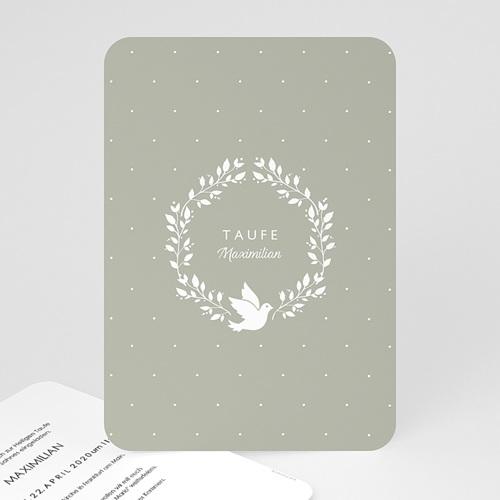 Einladungskarten Taufe Jungen  Symbol Taube