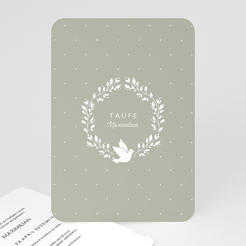 Einladungskarten Taufe Jungen  - Symbol Taube 63959 thumb