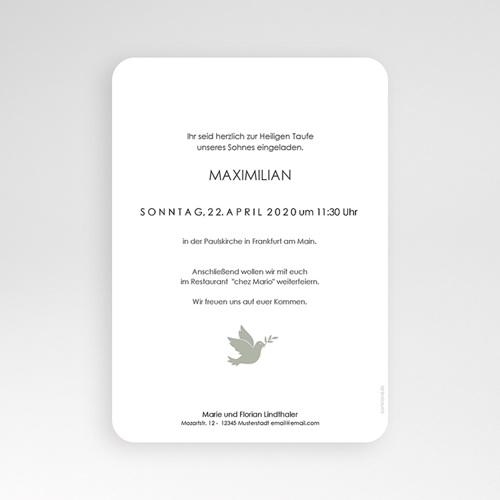 Einladungskarten Taufe Jungen  - Symbol Taube 63960 thumb