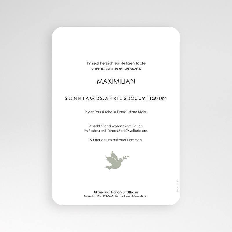 Einladungskarten Taufe Jungen  Symbol Taube pas cher