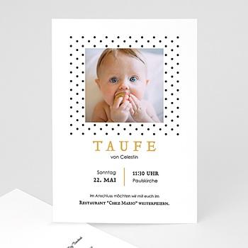 Einladungskarten Taufe Jungen  - Punktemotiv - 0
