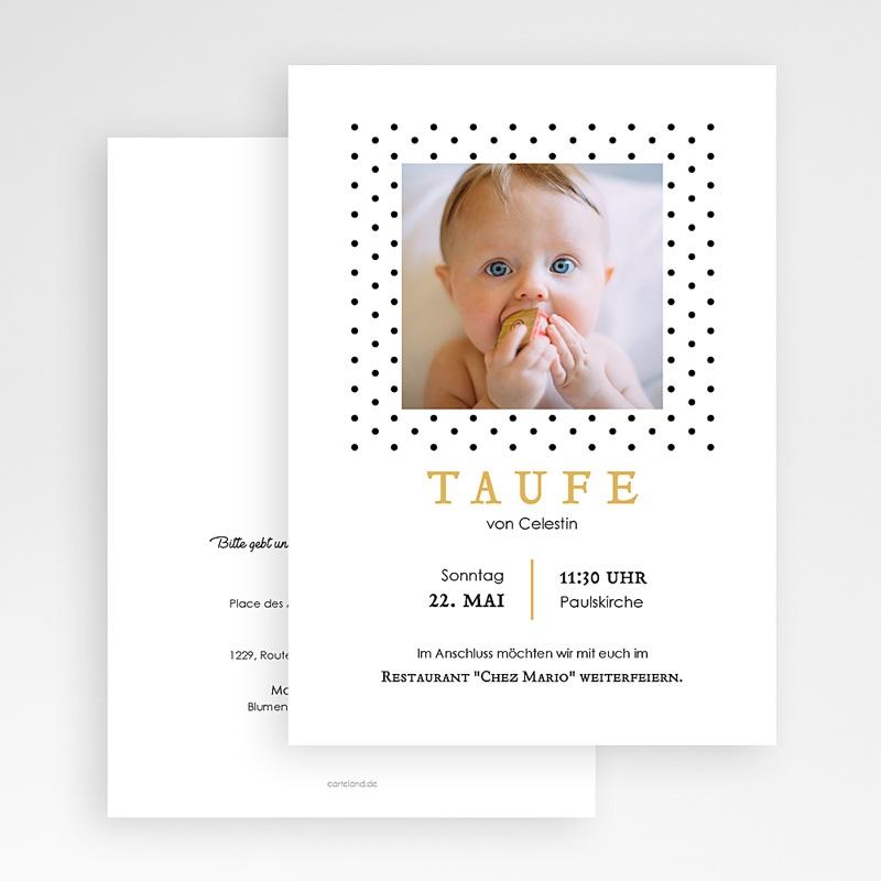Einladungskarten Taufe Jungen  Punktemotiv gratuit