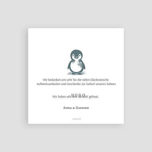 Danksagung Geburt Tiermotive Kleiner Pinguin pas cher