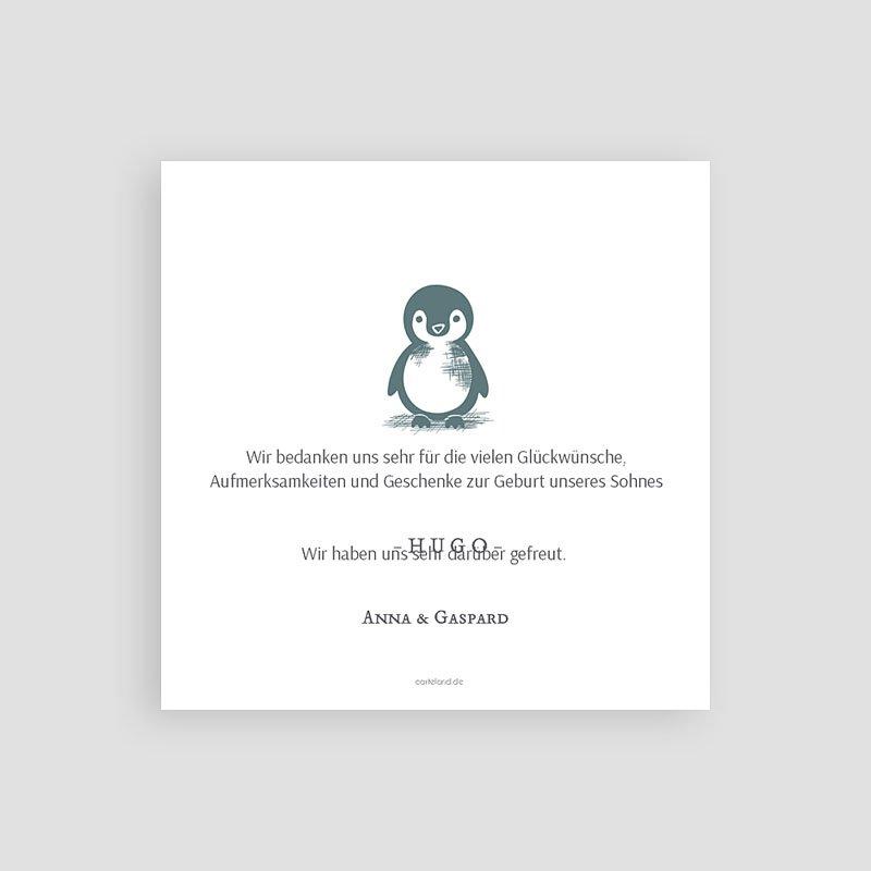 Danksagung Geburt Tiermotive - Kleiner Pinguin 63987 thumb