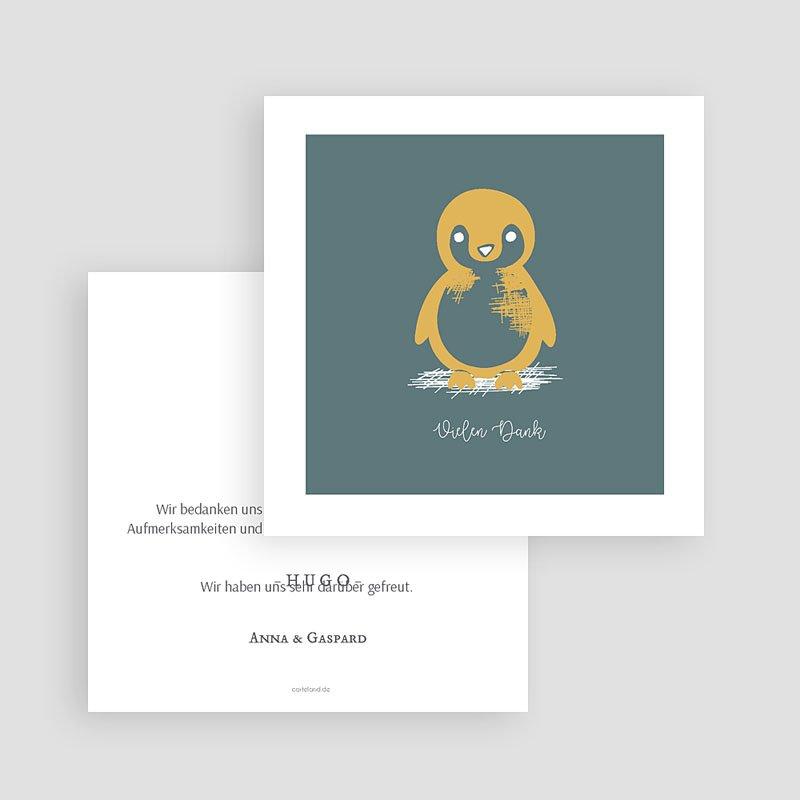 Danksagung Geburt Tiermotive - Kleiner Pinguin 63988 thumb